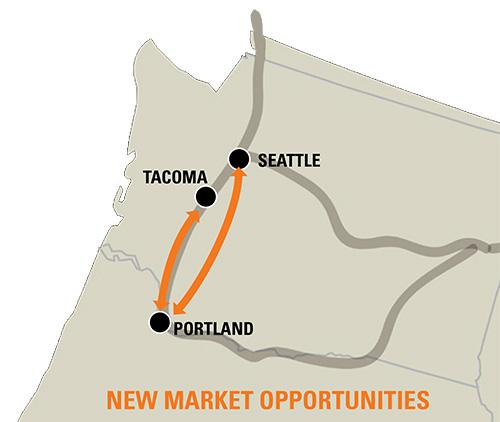 Tacoma To Portland >> Connecting Seattle Tacoma And Portland Bnsf